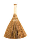Dry grass broom isolated on a white Royalty Free Stock Images