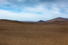 Dry Gravel Field Landscape of Central Iceland Royalty Free Stock Photo