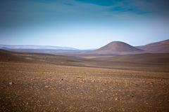 Dry Gravel Field Landscape of Central Iceland Stock Photo