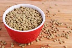 Dry green lentils Stock Image