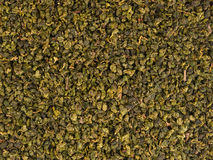 Green oolong tea leaves background Royalty Free Stock Photography