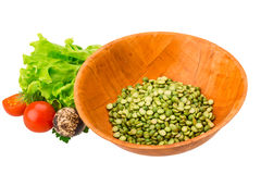 Dry green peas Stock Photography