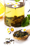 Dry green tea Royalty Free Stock Images