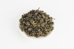 Dry green tea. Royalty Free Stock Photos
