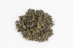 Dry green tea. Royalty Free Stock Photography