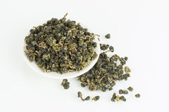 Dry green tea. Royalty Free Stock Image