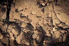 Dry Ground. Dry cracked ground on lagune dry water Stock Photos