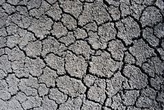 Dry ground cracked texture, horizontal background top view, close up stock photography