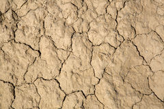 Dry Ground in Dought at Bardenas Reales Park; Navarre Stock Photo