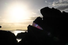 Dry Hardened Lava Rocks Stock Images