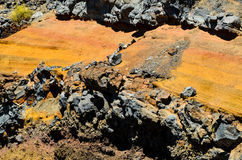 Dry Hardened Volcanic Lava Royalty Free Stock Images