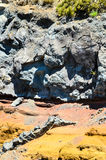 Dry Hardened Volcanic Lava Royalty Free Stock Photography
