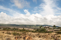 Dry Hawaian landsape in Kihei, Maui. Dry Hawaian landsape with beautiful clouds in Kihei, Maui Royalty Free Stock Images
