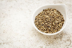 Dry hemp seeds Stock Photos