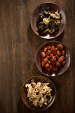 Dry  herb Chinese jujube ginger mushroom Royalty Free Stock Photos