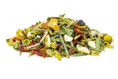 Dry herbal tea with fruits Stock Photography