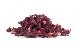 Dry hibiscus tea Stock Photo