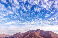 Dry Hills in the Elqui Valley Royalty Free Stock Images