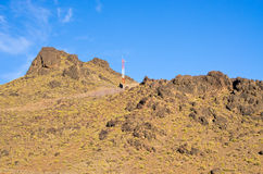 Dry hills of Morocco Royalty Free Stock Photo
