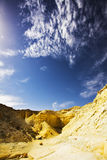 Dry hills from sandstone in Israel Stock Images