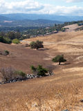Dry hilly Californian landscape near San Jose Royalty Free Stock Photography