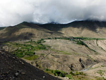 Dry Himalayan Agricultural Landscape in Monsoon Stock Images