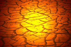 Dry hot riverbed. Stock Photos