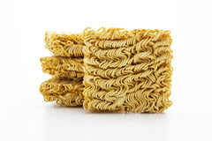 Dry instant noodle. Royalty Free Stock Photography