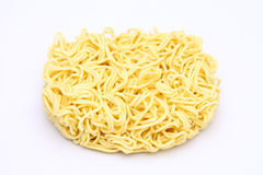 Dry instant noodle. On white background Royalty Free Stock Images
