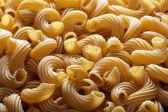Dry Italian Cavatappi Pasta texture Stock Photo