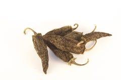 Dry jalapeno. Dry green jalapenos, isolated on white background Royalty Free Stock Image