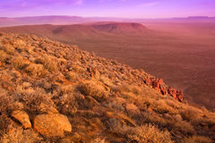 Dry karoo landscape. View over the dry karoo landscape in south africa Royalty Free Stock Photos