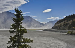 Dry kluane lake Stock Photos