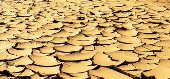 Dry knäckte jord Royaltyfria Bilder