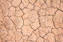 Dry knäckte jordbakgrundstextur Royaltyfri Fotografi