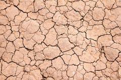 Dry knäckte jordbakgrundstextur Fotografering för Bildbyråer