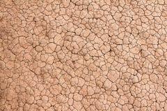 Dry knäckte jordbakgrundstextur Royaltyfri Bild