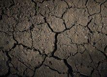 Dry knäckte jordutkastet Arkivfoto