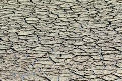 Dry knäckte salta lägenheter för jord royaltyfri bild
