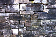 Dry Laid Block Stone Wall Royalty Free Stock Photography