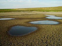 Dry lake Stock Photos
