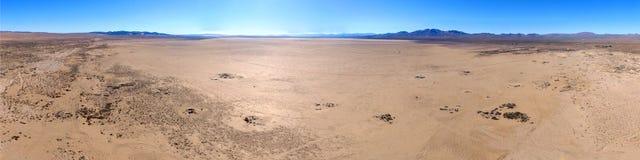 Dry Lake Bed Aerial Panoramic. Coyote Dry Lake CA Aerial Panoramic stock photography