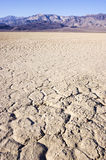 Dry lake bed in desert Royalty Free Stock Photos