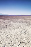 Dry lake bed in desert Royalty Free Stock Photography