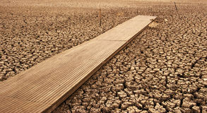 Dry lake bed in drought  Stock Photo
