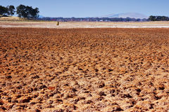 Dry lake bed in drought Royalty Free Stock Image