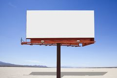 Dry Lake Desert Billboard Stock Image