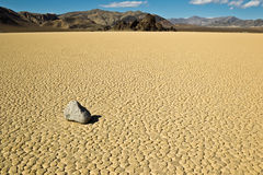 Dry lake feature with sailing stones Stock Images