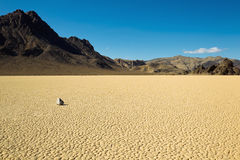 Dry lake feature with sailing stones Stock Photography