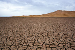 Dry lake at the sahara Stock Photos